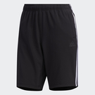 ADIDAS 3-STRIPES 女裝 短褲 訓練 休閒 拉鍊口袋 黑LOGO 黑【運動世界】FT2877