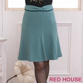 【RED HOUSE-蕾赫斯】雙色蝴蝶結及膝裙(共二色)