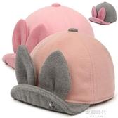 女寶寶鴨舌帽小女孩毛呢帽秋1-2-4歲兒童帽女童女孩鴨舌帽  歐韓時代