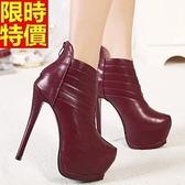 短靴 高跟女靴子-個性別緻流行個性休閒2色66c33【巴黎精品】