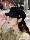 貝雷帽 貝雷帽女韓版潮秋冬季帽子女八角帽新款網紅款時尚百搭鴨舌帽 智慧e家 新品
