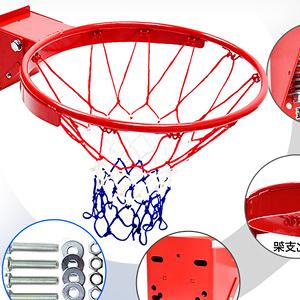 台製 強化雙彈簧籃球框架(含籃網)減震金屬籃框.耐用籃球架子籃網.打籃球類運動用品推薦哪裡買