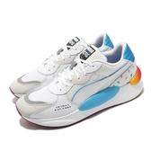 Puma 休閒鞋 RS 9.8 X Tetris 白 藍 男鞋 運動鞋 俄羅斯方塊 【PUMP306】 37249001