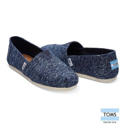 TOMS 經典水洗牛仔帆布休閒鞋-女款(10010780 NAVY)