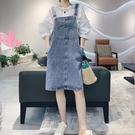 刷白吊帶牛仔裙洋裝連身裙【88-16-8110627-21】ibella 艾貝拉