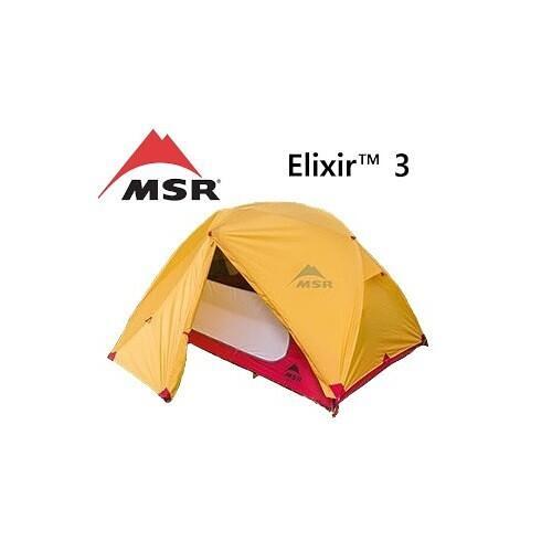 『VENUM旗艦店』MSR Elixir 2 輕量雙人三季帳篷/2人帳/登山帳篷 雙門 附地布 13326 金色亞洲限定色