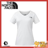 【The North Face 女 FlashDry排汗短袖T恤《白》】3GEK/短袖上衣/排汗衣/運動短袖