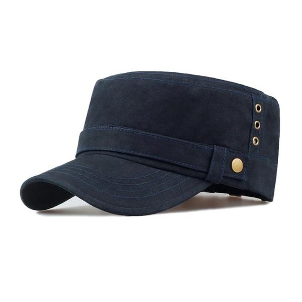 卡車帽帽子男鴨舌帽休閒棒球帽正韓平頂帽軍帽戶外防曬遮陽帽太陽帽 快速出貨