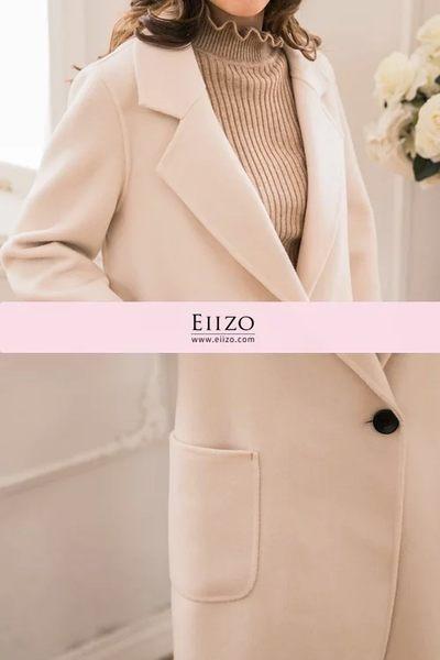 【EIIZO】手工純羊毛大衣(米白)