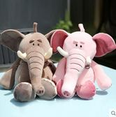 安撫玩偶 柔軟抱抱大象公仔抱枕毛絨玩具軟體睡覺安撫玩偶布娃娃粉色女生 傾城小鋪