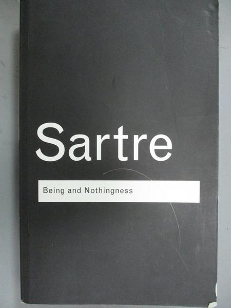 【書寶二手書T3/大學社科_WEN】Being and Nothingness: An Essay on Phenome