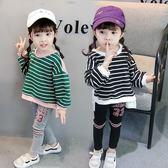女寶寶套裝女童大學T 2018新款韓版1-3歲女寶寶長袖上衣洋氣潮春秋
