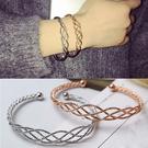 Qmigirl 編織網狀歐美手鐲韓版飾品日韓簡約個性誇張飾品手鐲手鏈手環【G1980】