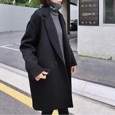 大衣 赫本風毛呢大衣女2018流行冬季韓版森系小妮子外套中長款學生呢子