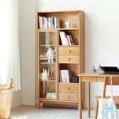 儲物櫃 全實木書櫃簡約現代書架置物架小戶型書房多功能儲物櫃  艾森堡