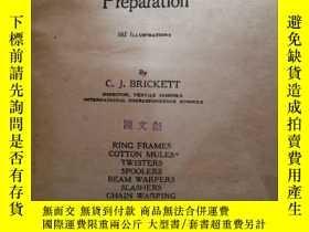 二手書博民逛書店cotton罕見spinning and warp preparationY393182 出版1928