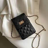 斜跨手機包 鏈條包包女2021新款潮時尚洋氣百搭小方包網紅爆款斜挎手機包 小衣裡