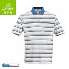 【Ratops 瑞多仕 男 Coolmax條紋POLO短袖上衣《深藍綠領》】DB8800/POLO衫/休閒上衣/運動短袖