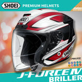 [中壢安信]日本 SHOEI J-FORCE IV 彩繪BRILLER TC-1 紅白 半罩 安全帽 3/4 四分之三