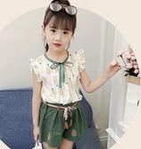 全館83折女童夏裝套裝2019新款韓版兒童女孩時髦洋氣童裝女大童短袖兩件套