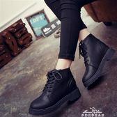 馬丁靴 ins馬丁靴女英倫新款潮百搭學生韓版短筒高幫皮鞋短靴子 早秋低價促銷