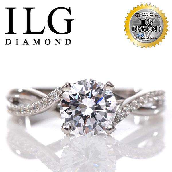 【頂級美國ILG鑽飾】八心八箭戒指-1.25克拉 無盡的愛款 Ri109 絕美交織優雅氣質的鑽戒