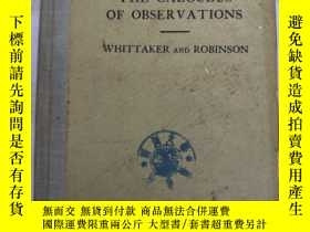 二手書博民逛書店the罕見calculus of observations (H