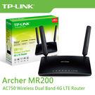 【免運費】TP-LINK  Archer MR200 AC750 無線雙頻 4G 進階版 LTE 極速 路由器