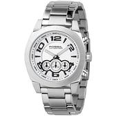 FOSSIL 悍將先驅計時腕錶(銀)