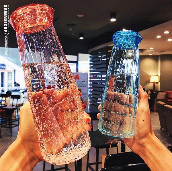水杯 夏季創意潮流學生水杯子塑料便攜防漏少女心韓國清新可愛韓版水瓶