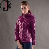 JORDON 橋登 JD439-紫紅 女超輕羽絨夾克 輕量化羽絨衣/可收納羽絨衣/保暖羽絨外套