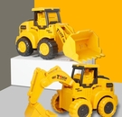 挖掘機玩具 工程車玩具男孩挖掘機2-3歲按壓慣性車4推土機玩具男益智【快速出貨八折搶購】