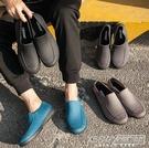 廚房水鞋男夏季低幫時尚短筒雨鞋休閒防滑工作雨靴男洗車防水膠鞋CY『新佰數位屋』