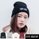 OT SHOP帽子‧簡約素色保暖針織‧毛...