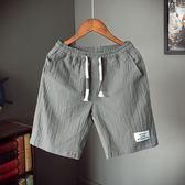棉麻短褲男加肥加大碼中5五分褲