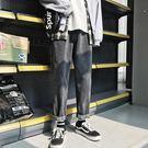 秋季新款褲子男牛仔褲直筒寬鬆韓版bf原宿...