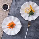 陶瓷荷葉 盤子 湯盤菜盤異形創意家用水果...