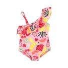 不對稱熱帶水果荷葉連身泳裝 泳衣 女童 小童 兒童 連身 泳裝 橘魔法 童裝 現貨