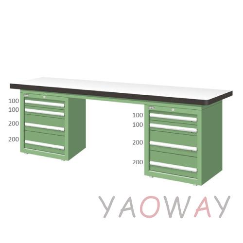 【耀偉】天鋼 雙櫃型(耐磨)工作桌WAD-77041F (工作台,工業桌,機台桌)