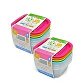 【特惠2組裝】日本INOMATA方形4色微波保鮮盒(270ml)
