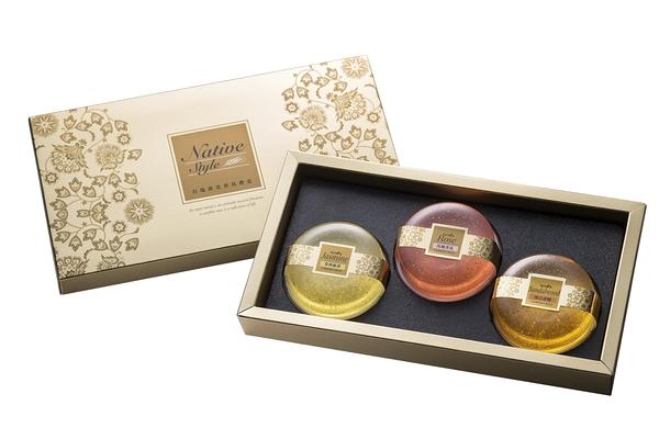 膠原蛋白黃金香氛皂禮盒3入裝(茉莉+玫瑰+檀香)【台鹽生技】