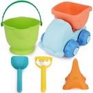 軟膠兒童沙灘玩具車大號鏟子桶套裝寶寶男孩...
