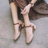 2018新款韓版復古瑪麗中粗跟一字扣帶女鞋