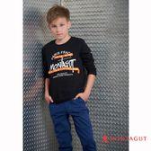 童裝男童字母T恤 夢特嬌 黑色 150-170cm