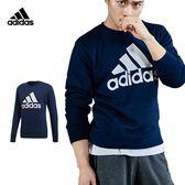 Adidas Ess Logo 男 深藍 長袖上衣 愛迪達 長袖 長T 運動 棉T 衣服 彈性 舒適 CW3870