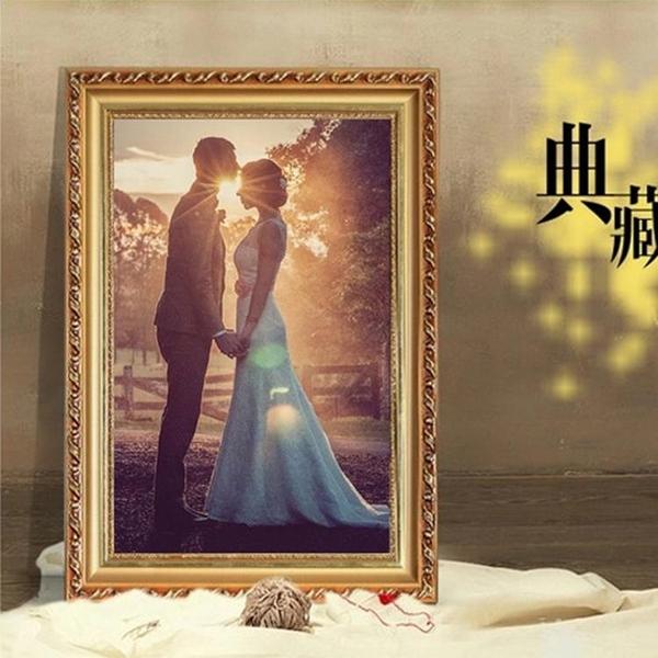 相框 實木歐式相框a3 A4 10 12 16 18 20寸婚紗照片掛牆兒童擺台畫框RM