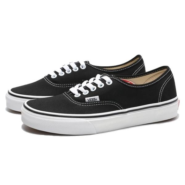 VANS 休閒鞋 AUTHENTIC 黑 白 帆布 經典款 板鞋 男女 (布魯克林) VN000EE3BLK