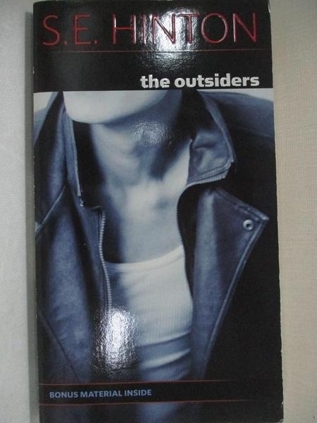 【書寶二手書T7/原文小說_GJN】The Outsiders_S. H. HINTON