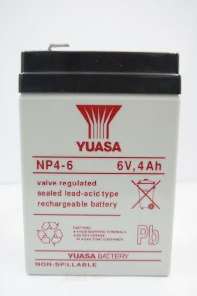 全館免運費【電池天地】湯淺鉛酸蓄電池NP4-6 6V,4Ah 緊急照明燈、手電筒、玩具車、電子秤