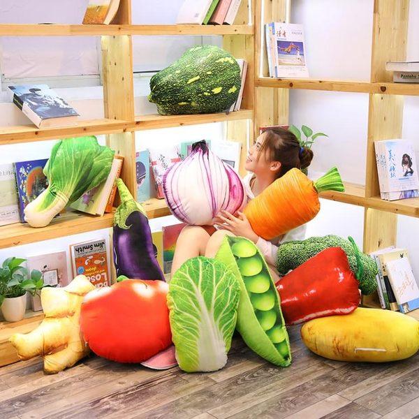 整蠱玩具 創意仿真水果蔬菜抱枕靠墊搞怪毛絨玩具抖音少女心生日禮物玩偶 依夏嚴選